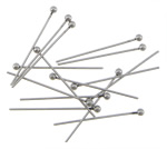 Stainless Steel Headpins, original color, 2x24mm, 0.6mm, 1000PCs/Bag, Sold By Bag
