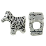 Zinc Alloy European Beads, Animal, antique silver color plated, without troll, nickel, lead & cadmium free, 13x13x8mm, Hole:Approx 4.5mm, 10PCs/Bag, Sold By Bag