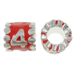 Zinc Alloy European Beads, Tube, silver color plated, without troll & enamel, nickel, lead & cadmium free, 9x9mm, Hole:Approx 5mm, 10PCs/Bag, Sold By Bag