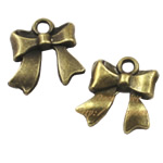 Zinc Alloy Pendants, Bowknot, antique bronze color plated, nickel, lead & cadmium free, 16x8mm, Hole:Approx 2mm, 350PCs/Bag, Sold By Bag