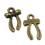 Zinc Alloy Pendants, Bowknot, antique bronze color plated, nickel, lead & cadmium free, 7.50x12mm, Hole:Approx 2mm, 1000PCs/Bag, Sold By Bag
