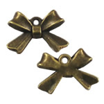 Zinc Alloy Pendants, Bowknot, antique bronze color plated, nickel, lead & cadmium free, 10x14mm, Hole:Approx 2mm, 500PCs/Bag, Sold By Bag