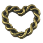 Zinc Alloy Linking Ring, Heart, antique bronze color plated, nickel, lead & cadmium free, 21x21mm, 250PCs/Bag, Sold By Bag