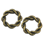 Zinc Alloy Linking Ring, Rolo, antique bronze color plated, nickel, lead & cadmium free, 15x15mm, 350PCs/Bag, Sold By Bag