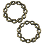 Zinc Alloy Linking Ring, Rolo, antique bronze color plated, nickel, lead & cadmium free, 20x20mm, 300PCs/Bag, Sold By Bag