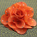 Fashion Decoration Flowers, Cloth, orange, 45x45mm, 80PCs/Lot, Sold By Lot