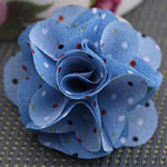Fashion Decoration Flowers, Cloth, blue, 45x45mm, 80PCs/Lot, Sold By Lot