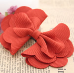Fashion Decoration Flowers, Cloth, Bowknot, reddish orange, 100x70mm, 60PCs/Lot, Sold By Lot