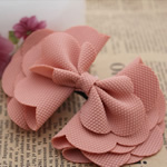 Fashion Decoration Flowers, Cloth, Bowknot, fuchsia pink, 100x70mm, 60PCs/Lot, Sold By Lot