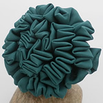 Fashion Decoration Flowers, Satin Ribbon, deep green, 55x55mm, 40PCs/Lot, Sold By Lot
