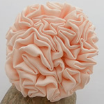 Fashion Decoration Flowers, Satin Ribbon, apricot, 55x55mm, 40PCs/Lot, Sold By Lot