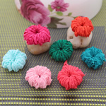 Fashion Decoration Flowers, Cloth, Round, mixed colors, 25x25mm, 100PCs/Lot, Sold By Lot