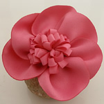 Fashion Decoration Flowers, Cloth, red, 55x55mm, 80PCs/Lot, Sold By Lot