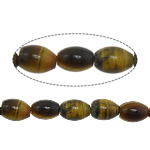 Natural Tiger Eye Beads, Oval, 8x6mm, Hole:Approx 1mm, Approx 47PCs/Strand, Sold Per Approx 15.5 Inch Strand