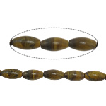 Natural Tiger Eye Beads, Oval, 13x6.50mm, Hole:Approx 1mm, Approx 32PCs/Strand, Sold Per Approx 15.5 Inch Strand