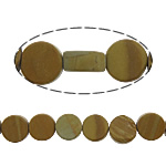 Natural Grain Stone Beads, Coin, 8x8x4mm, Hole:Approx 1mm, Approx 48PCs/Strand, Sold Per Approx 15.5 Inch Strand