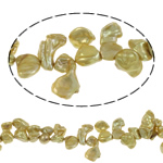 Reborn Cultured Freshwater Pearl Beads, Keishi, gold, 9-10mm, Hole:Approx 0.8mm, Sold Per 15.7 Inch Strand