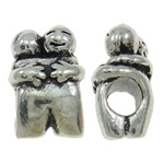 Zinc Alloy European Beads, Character, antique silver color plated, without troll, nickel, lead & cadmium free, 10x15.50x8.50mm, Hole:Approx 4.5mm, 10PCs/Bag, Sold By Bag