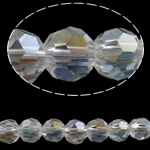 Imitation CRYSTALLIZED™ Element Crystal Beads, Round, AB color plated, faceted, Crystal, 8mm, Hole:Approx 1mm, Length:Approx 21.2 Inch, 10Strands/Bag, Sold By Bag