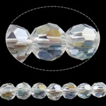 Imitation CRYSTALLIZED™ Element Crystal Beads, Round, AB color plated, faceted, Crystal, 4mm, Hole:Approx 1mm, Length:Approx 14.5 Inch, 10Strands/Bag, Sold By Bag