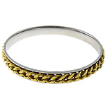 Stainless Steel Bangle, gold color plated, original color, 8mm, Inner Diameter:Approx 65mm, Length:9 Inch, 10PCs/Lot, Sold By Lot