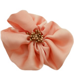 Fashion Decoration Flowers, Chiffon, with Plastic, pink, 100x100mm, 30PCs/Lot, Sold By Lot