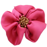 Fashion Decoration Flowers, Chiffon, with Plastic, bright rosy red, 100x100mm, 30PCs/Lot, Sold By Lot