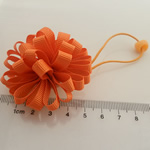 Ponytail Holder, Satin Ribbon, with Rubber & Plastic, elastic, reddish orange, 100x40mm, 30PCs/Lot, Sold By Lot