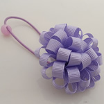 Ponytail Holder, Satin Ribbon, with Rubber & Plastic, Flower, elastic, purple, 100x40mm, 30PCs/Lot, Sold By Lot