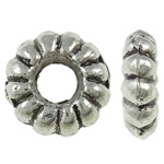 Zinc Alloy Spacer Beads Flower antique silver color plated nickel lead   cadmium free 9.50x3mm Hole:Approx 4mm Approx 1250PCs/Bag