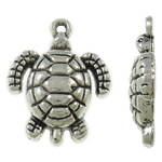 Zinc Alloy Animal Pendants, Turtle, antique silver color plated, lead & cadmium free, 18x24x5mm, Hole:Approx 2mm, Approx 400PCs/KG, Sold By KG