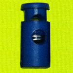 Plastic Spring Stopper, blue, 22x10mm, Hole:Approx 5mm, 300PCs/Lot, Sold By Lot