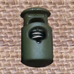Plastic Spring Stopper, green, 27x15mm, Hole:Approx 5x8mm, 300PCs/Lot, Sold By Lot
