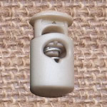 Plastic Spring Stopper, beige, 27x15mm, Hole:Approx 5x8mm, 300PCs/Lot, Sold By Lot