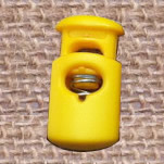 Plastic Spring Stopper, yellow, 27x15mm, Hole:Approx 5x8mm, 300PCs/Lot, Sold By Lot