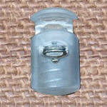 Plastic Spring Stopper, clear, 27x15mm, Hole:Approx 5x8mm, 300PCs/Lot, Sold By Lot