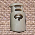 Plastic Spring Stopper, khaki, 27x15mm, Hole:Approx 5x8mm, 300PCs/Lot, Sold By Lot