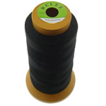 Nylon Thread, with plastic spool, without elastic, 9-yarn, black, 0.70mm, Length:310 m, 10PCs/Lot, Sold By Lot
