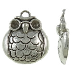 Zinc Alloy Pendant Rhinestone Setting Animal antique silver color plated lead   cadmium free 19.50x23x3.50mm Hole:Approx 3mm Approx 400PCs/KG