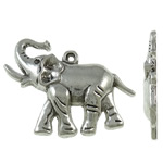 Zinc Alloy Animal Pendants, antique silver color plated, lead & cadmium free, 37.50x29x5mm, Hole:Approx 2.3mm, Approx 165PCs/KG, Sold By KG
