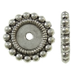 Zinc Alloy Spacer Beads, Flat Round, antique silver color plated, lead & cadmium free, 14.50x2.50mm, Hole:Approx 1.7mm, Approx 1000PCs/Bag, Sold By Bag