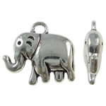 Zinc Alloy Animal Pendants, antique silver color plated, lead & cadmium free, 20.50x18x5.30mm, Hole:Approx 2.7mm, Approx 215PCs/KG, Sold By KG