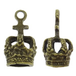 Zinc Alloy Jewelry Bail Crown antique bronze color plated nickel lead   cadmium free 11x21mm Hole:Approx 2.5mm 200PCs/Bag