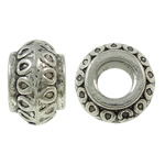 Zinc Alloy Jewelry Beads Rondelle antique silver color plated lead   cadmium free 8.50x5.50mm Hole:Approx 3.5mm Approx 1110PCs/Bag