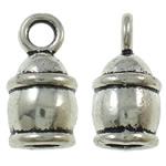 Końcówka ze stopu cynku, Stop cynku, Platerowane kolorem starego srebra, bez zawartości ołowiu i kadmu, 7.50x15mm, otwór:około 2.5mm, około 670komputery/torba, sprzedane przez torba