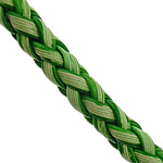 Cowhide Cord, woven, green, nickel, lead & cadmium free, 6mm, 3mm, Length:50 m, Sold By Lot