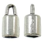 Końcówka ze stopu cynku, Stop cynku, Platerowane kolorem starego srebra, bez zawartości ołowiu i kadmu, 9x4.50mm, otwór:około 2.3mm, około 2816komputery/torba, sprzedane przez torba