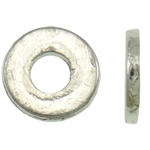Zinc Alloy Jewelry Beads, Donut, antique silver color plated, lead & cadmium free, 6.50x1mm, Hole:Approx 2.5mm, Approx 5000PCs/Bag, Sold By Bag