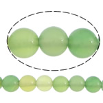 Natural Green Agate Beads, Round, different size for choice, Hole:Approx 1-1.2mm, Length:Approx 15.5 Inch, Sold By Lot