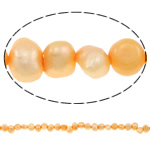 Baroque Cultured Freshwater Pearl Beads, yellow, 4-5mm, Hole:Approx 0.8mm, Sold Per 14.5 Inch Strand